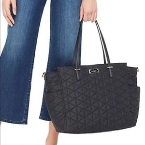 Kate Spade Classic black quilted Baby bag NWT